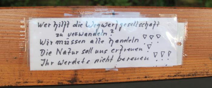 gesichtet #58: Littering-Poesie aus Kleinhüningen