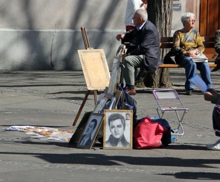 Porträtmaler-Claraplatz