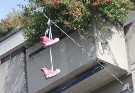 Hängende Schuhe 3