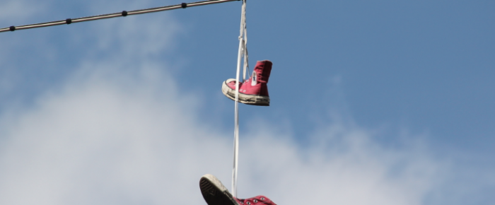 gesichtet #81: Die hängenden Schuhe von Basel