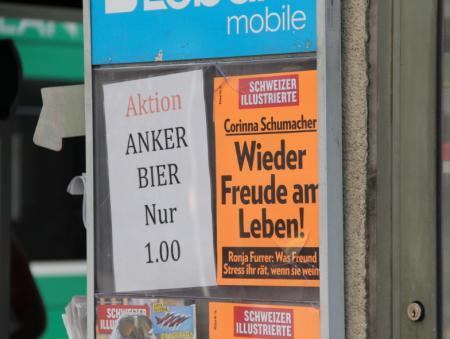 Anker Bier und Schweizer Illustrierte
