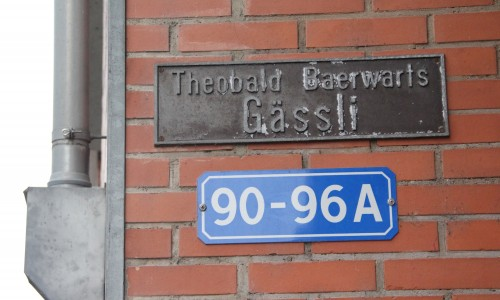 Baerwarts Gässli Strassenschild Mattenstrasse