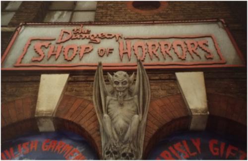 Souvenirshop beim Ausgang des Londoner Dungeon (Foto: Kathrin Pavic)